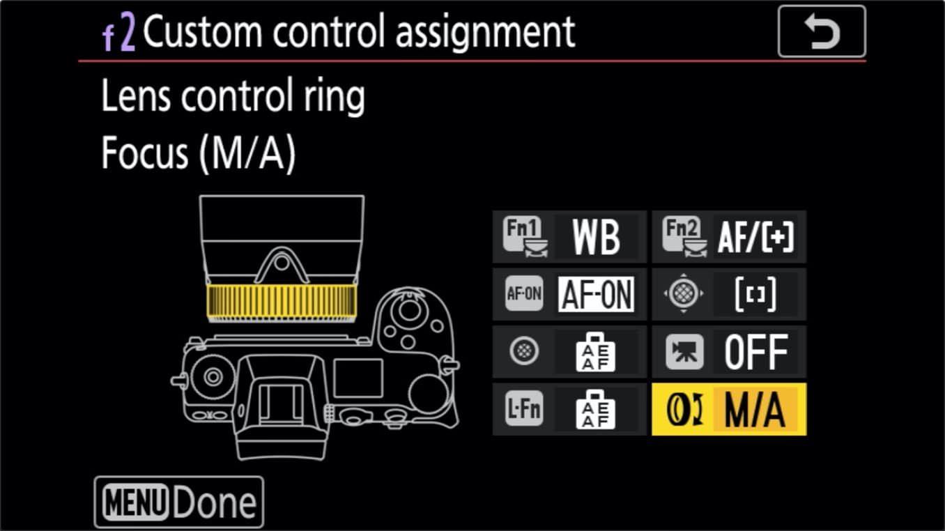Nikon Z 24 70mm f4 S Zoom Lens Control Ring Customize 3