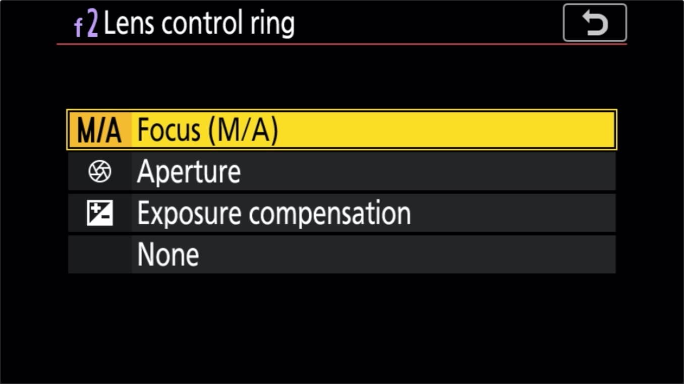 Nikon Z 24 70mm f4 S Zoom Lens Control Ring Customize 4