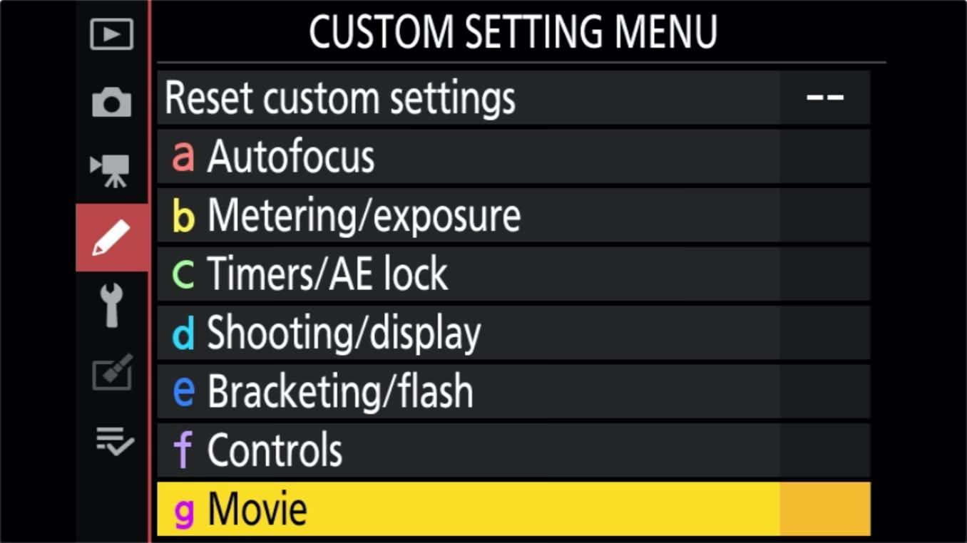 Nikon Z 24 70mm f4 S Zoom Lens Control Ring Customize 5