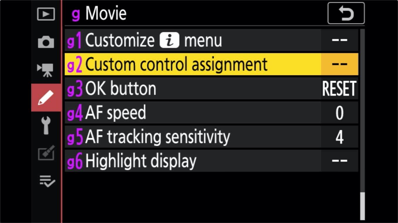 Nikon Z 24 70mm f4 S Zoom Lens Control Ring Customize 6