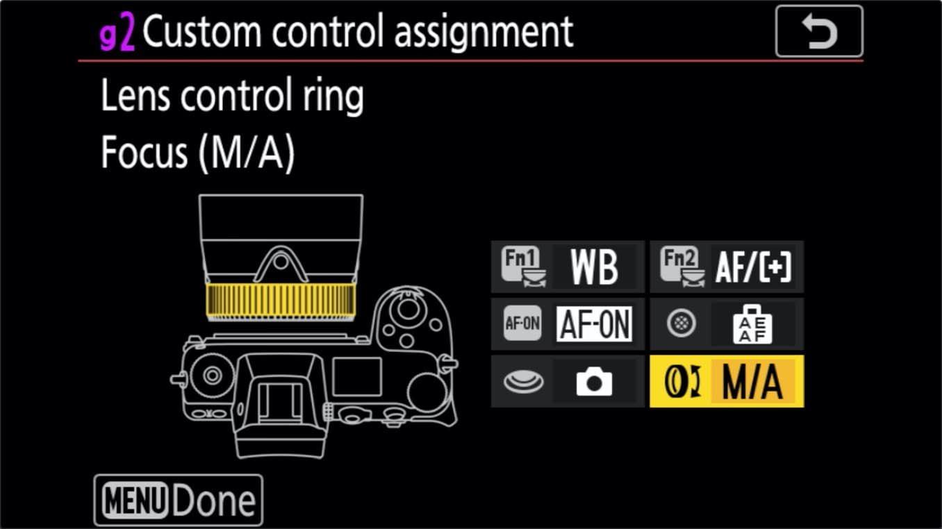 Nikon Z 24 70mm f4 S Zoom Lens Control Ring Customize 7