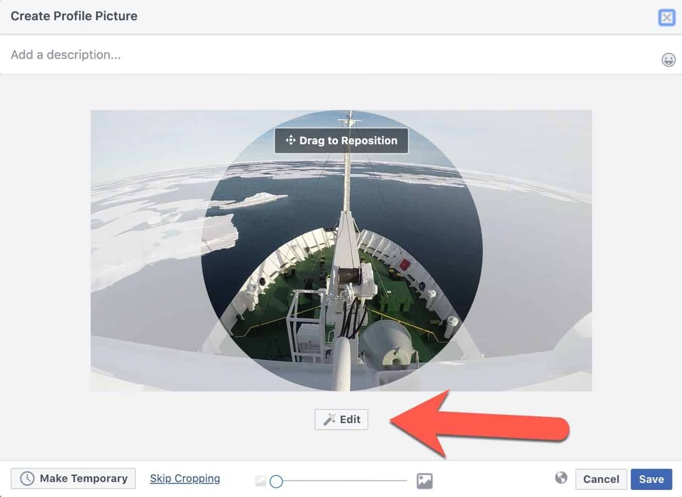 Facebook Profile Picture Size Edit