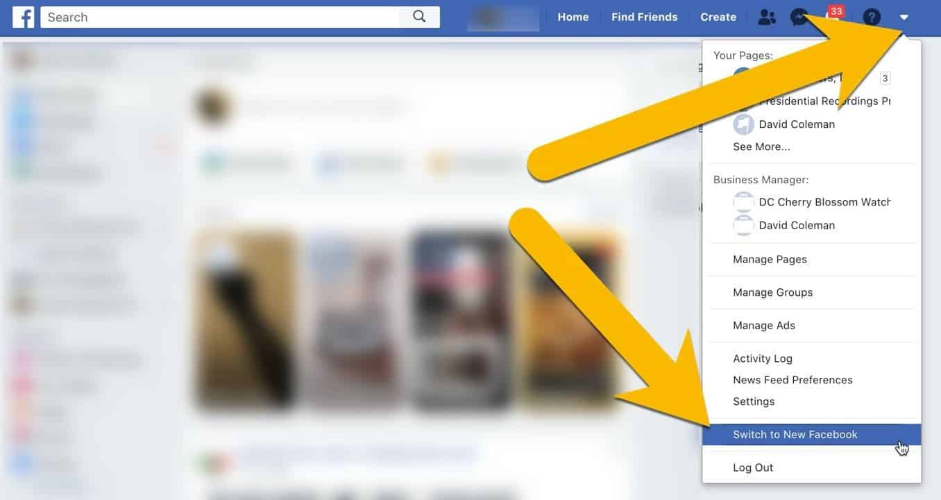How to Switch from Classic Facebook to New Facebook Layout