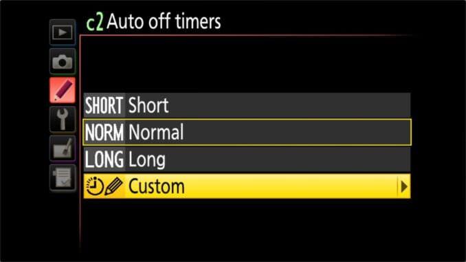 Nikon D5600 Live View Auto Off Timer
