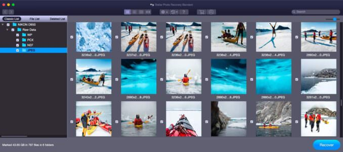 Stellar Photo Recovery Graphical User Interface