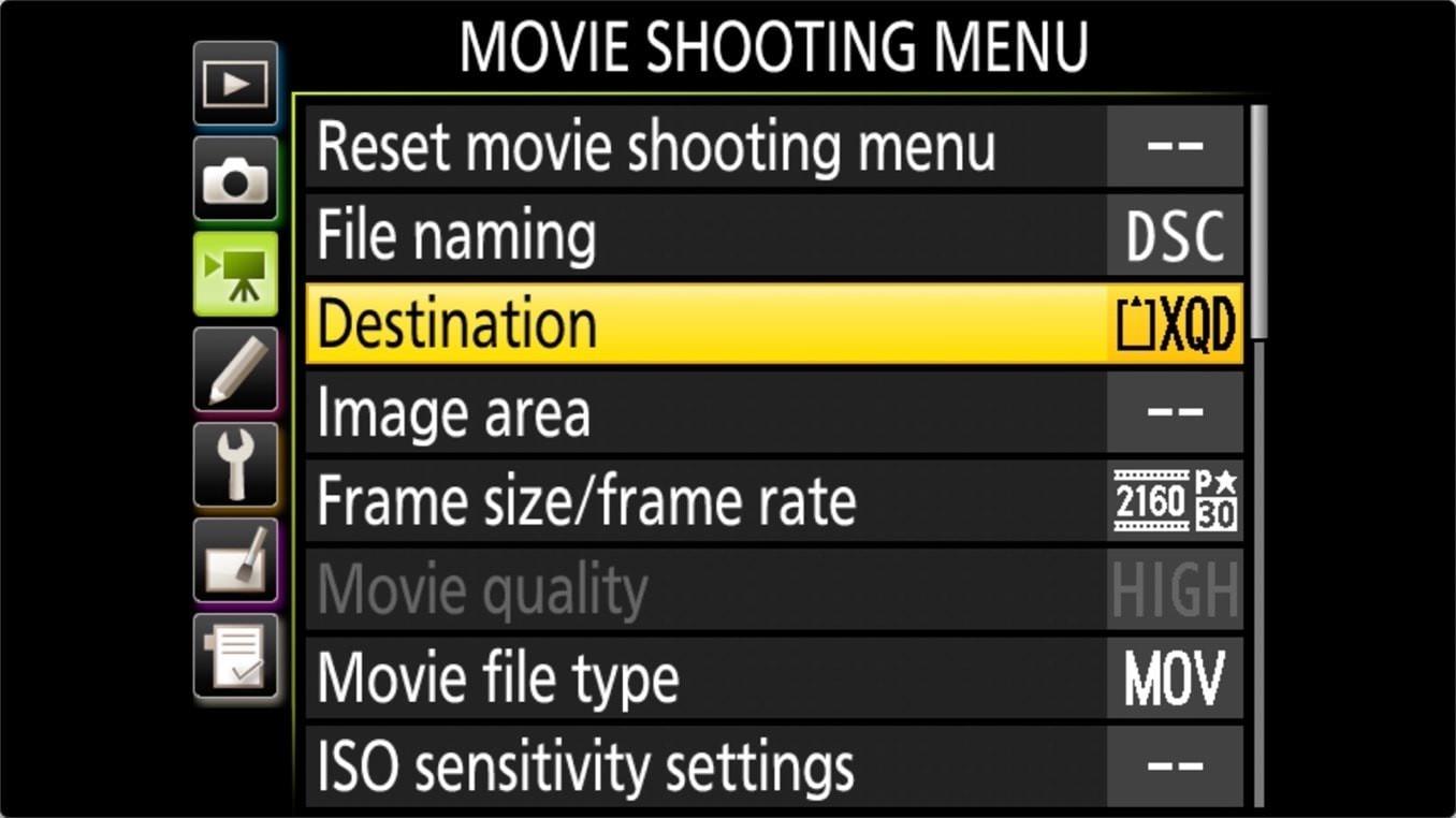 Nikon D850 Manage Memory Cards 1