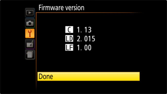 How to Update Nikon D3400 Firmware Version Confirmation