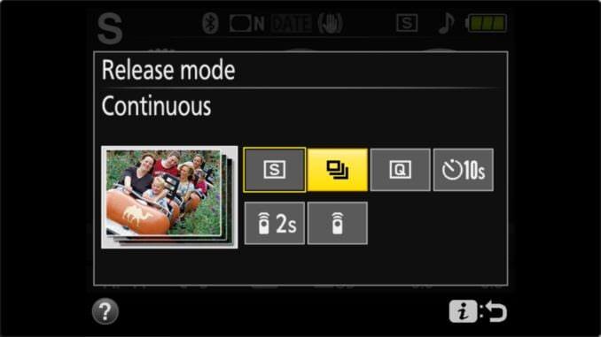 Nikon D3400 Continuous Burst Photos